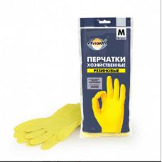 402-567 Перчатки хозяйственные, резиновые, размер M