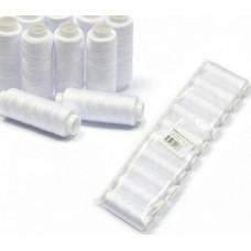 Набор швейных ниток 100 Экстра полиэстер 100%«Красная Нить» белые по 10 шт. 200 м.