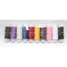 Набор швейных ниток 100 Экстра полиэстер 100%«Красная Нить» цветные по 10 шт. 200 м.