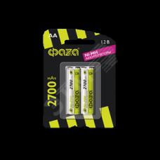 Элемент питания аккумуляторный ФАZА AA 2700мАч Ni-MH блистер, 2 шт.