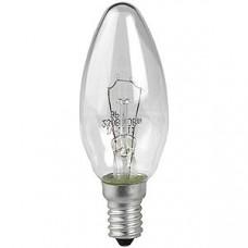 Лампа ДС (B35) 60Вт 230V E14 свечка. прозр в цветной гофре