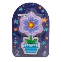 Светильник СТАРТ  NL 3 LED Цветок синий 220 В